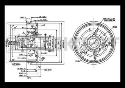 Тормозной барабан ZEKKERT BS-5444