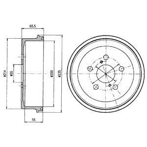 Тормозной барабан DELPHI BF341