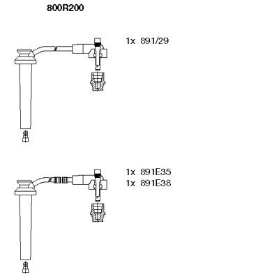 Комплект проводов зажигания BREMI 800R200