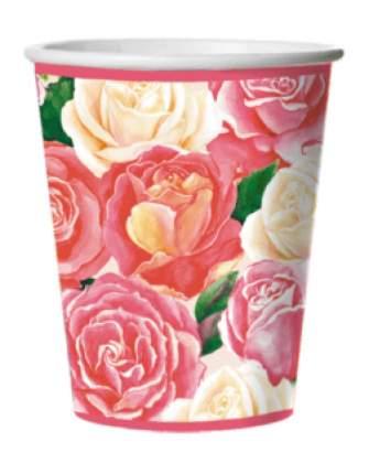Стакан картонный Bulgaree Green розовый букет 0.25 л 10 шт