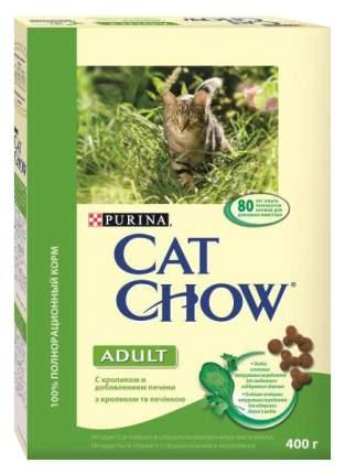 Сухой корм для кошек Cat Chow Adult, кролик, печень, 0,4кг