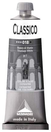 Масляная краска Maimeri Classico белила титановые 60 мл