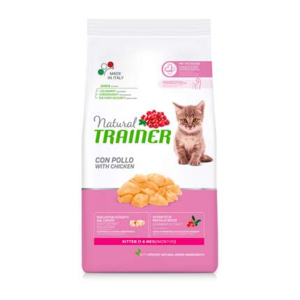 Сухой корм для котят TRAINER Natural Young Cat, от 7 до 12 месяцев, курица, 0,3кг