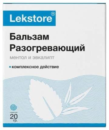 Бальзам для тела Лекстор с ментолом и эвкалиптом с разогревающий эффектом 20 г