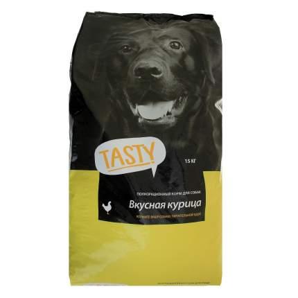 Сухой корм для собак TASTY Petfood, курица, 15кг