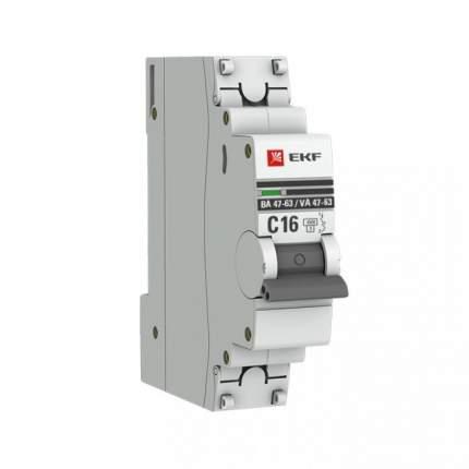 Автоматический выключатель EKF mcb4763-1-1.6C-pro