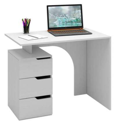 Стол компьютерный МФ Мастер Нейт-1 60x100x78, белый