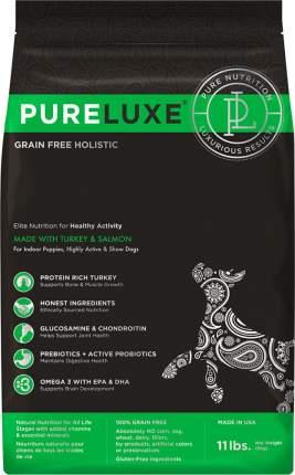 Сухой корм для собак PureLuxe GF Holistic, индейка, лосось, 10.89кг