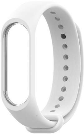Сменный ремешок для Хiaomi Mi Band 3/4 Silicon White