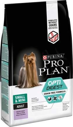 Сухой корм для собак PRO PLAN OptiDigest Small & Mini Adult Grain Free, индейка, 7кг