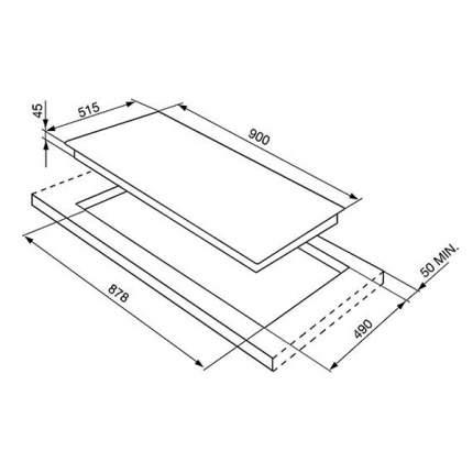 Встраиваемая варочная панель индукционная Smeg SI5952B Black