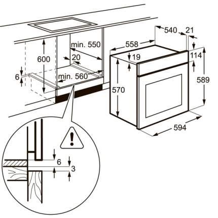 Встраиваемый электрический духовой шкаф Electrolux EZB52410AW White