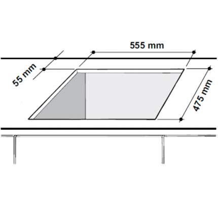 Встраиваемая варочная панель газовая Hotpoint-Ariston TQ640(CF) K GH/HA EE Yellow