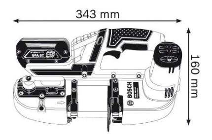 Аккумуляторная ленточная пила Bosch GCB 18 V-LI 06012A0300 БЕЗ АККУМУЛЯТОРА И З/У