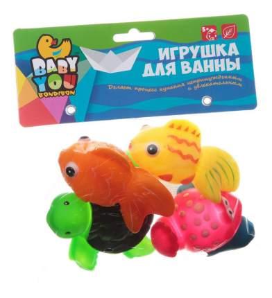 Игр. наб. для купания, Bondibon рыбки, рак, черепаха