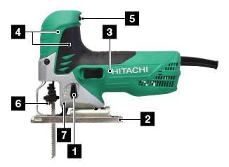 Сетевой лобзик Hitachi CJ90VAST-NS