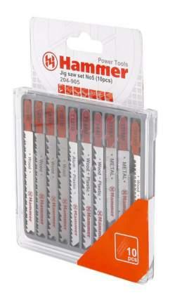 Набор пилок для лобзика Hammer Flex 204-905 JG WD-PL-MT (30576)