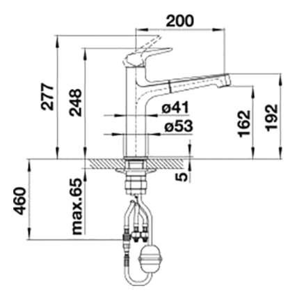 Смеситель для кухонной мойки Blanco FELISA-S 520339 алюметаллик