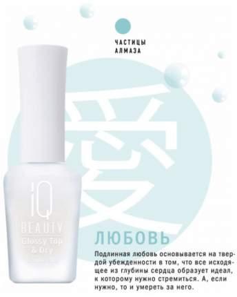 Закрепитель лака для ногтей IQ Beauty Glossy Top & Dry 15 мл Защитное покрытие и сушка