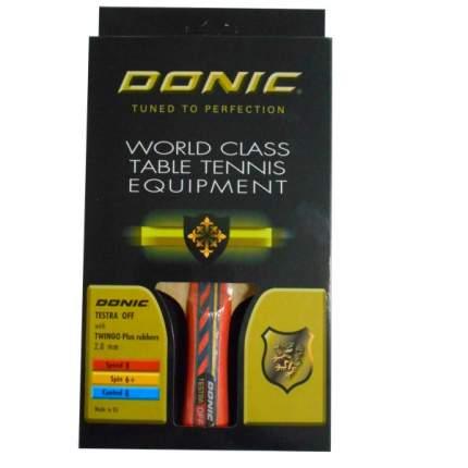 Ракетка для настольного тенниса Donic Testra OFF, красная