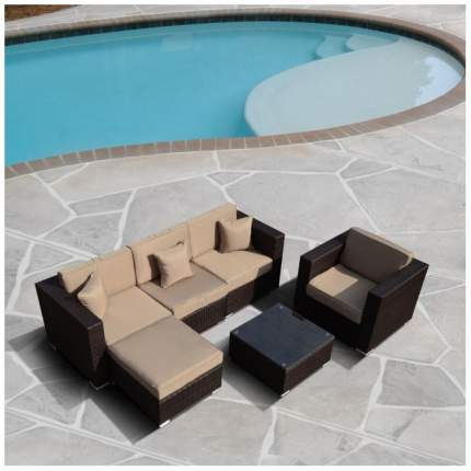 Комплект мебели Afina Garden YR821 Brown