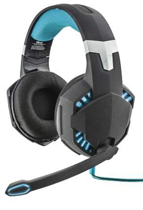 Игровые наушники Trust GXT GXT 363 7.1 Bass Vibration Headset Black/Cyan