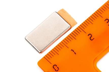 Неодимовый магнит Forceberg прямоугольник 18х10х1.5 мм с клеевым слоем, 10шт