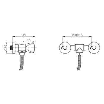 Смеситель для душа РМС SL119-003