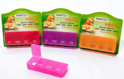 Таблетница Tableton Мини 4 в ассортименте