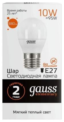 Лампочка Gauss Elementary E27 12W 3000K 53212