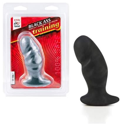 Анальная пробка Erotic Fantasy средняя мягкая ass training black