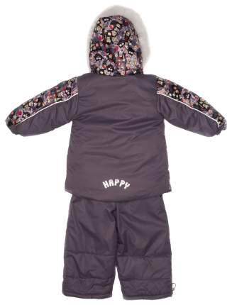 Комплект Malek-Baby: куртка и полукомбинезон с опушкой №284/1, Совы с конфетами+серый р.80