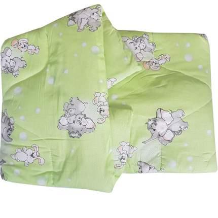 Одеяло стеганое Папитто файбертек 110*140 Салатовый 008