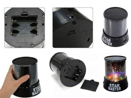 Ночник проектор звездного неба Star Master Чёрный