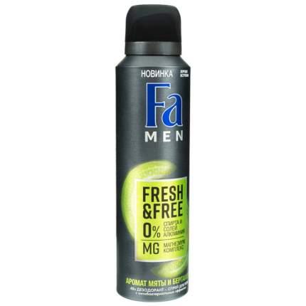 "Дезодорант-аэрозоль ""Fa Men. Fresh & Free. Аромат мяты и бергамота"", 150 мл"