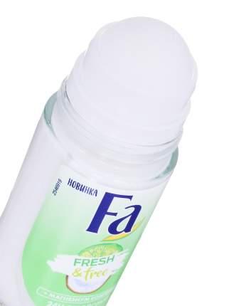 Дезодорант роликовый FA. Fresh & Free. Аромат лайма и кокоса 50 мл