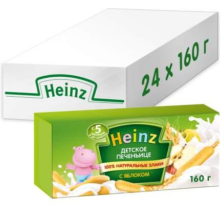 Печенье детское Heinz с яблоком, 5 мес., 24 шт по 160 г