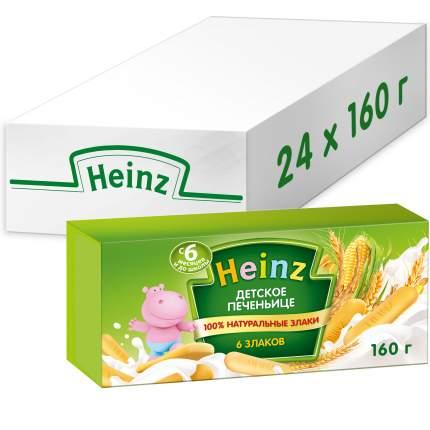 Печенье детское Heinz 6 злаков , 6 мес., 24 шт по 160 г