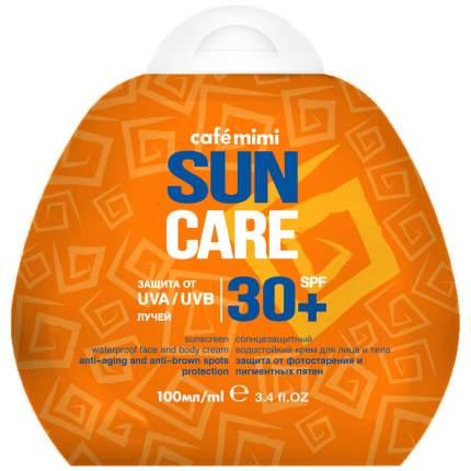 """Солнцезащитный водостойкий крем для лица и тела """"Cafe Mimi"""", SPF30+, 100 мл"""