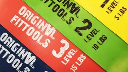 Original FitTools Набор мини-эспандеров диаметр 61 см Original FitTools FT-XLST