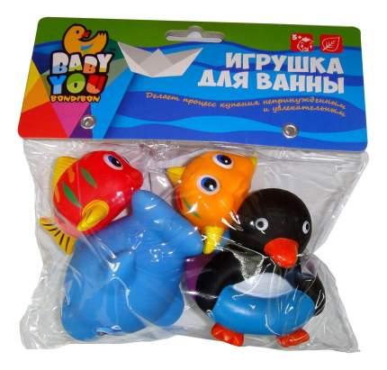 Игр. наб. для купания, Bondibon рыбки, кит, пингвин