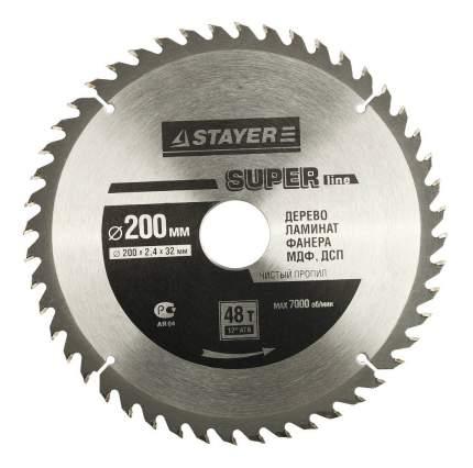 Диск по дереву для дисковых пил Stayer 3682-200-32-48
