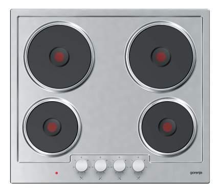 Встраиваемая варочная панель электрическая Gorenje E6N1BX Silver