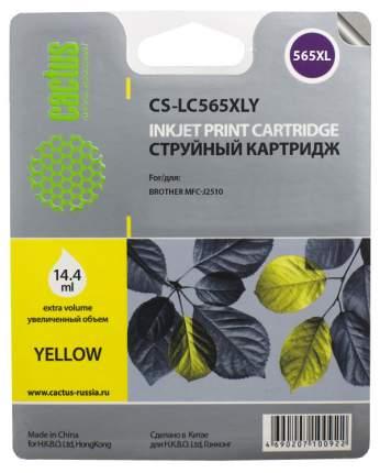 Картридж для струйного принтера Cactus CS-LC565XLY желтый