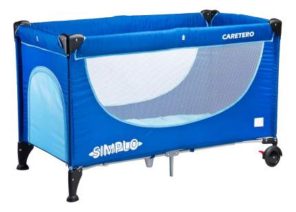 Манеж-кровать Caretero Simplo blue