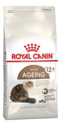 Сухой корм для кошек ROYAL CANIN Senior Ageing 12+, для пожилых, домашняя птица, 4кг