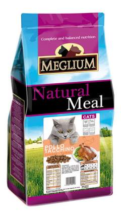 Сухой корм для кошек Meglium Adult, индейка, курица, 3кг