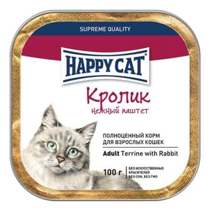 Консервы для кошек Happy Cat, кролик, 32шт, 100г