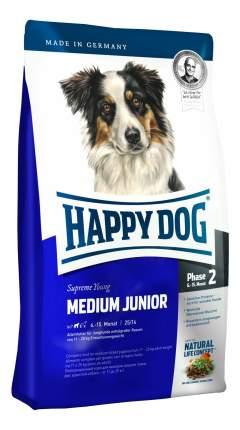 Сухой корм для щенков Happy Dog Supreme Young Medium Junior, для средних пород, птица, 4кг