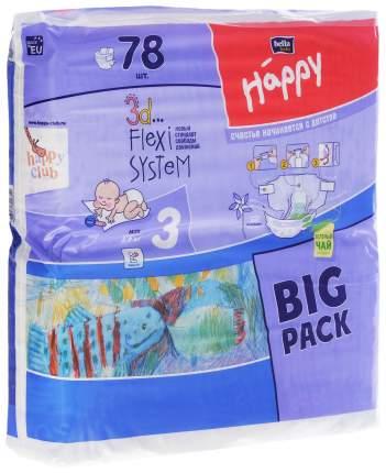 Подгузники Bella Baby Happy Midi 3 (5-9 кг), 78 шт.